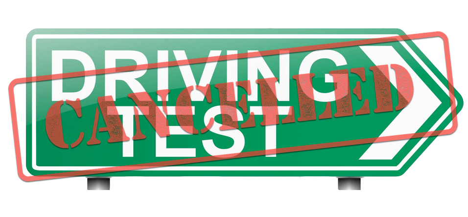 Driving test cancelled